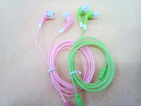 For Apple iPhone In-Ear 3.5mm With Brand XJ-002 In ear Earphone NO MIC for MP3 MP4 Mobile phone multi color 1000PCS LOT