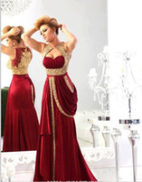 Reference Images Sweetheart Satin 2014 Prom Dresses Best Selling Sheath Sweetheart Chiffon with Runway Gold Embroidery Crystal Low Back Floor Length Arabic Prom Gowns Dhyz 01