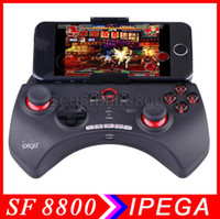 Wholesale IPEGA PG Rechargeable Multimedia BT Controller with Telescopic Stand for iPod iPhone iPad Android PC Games