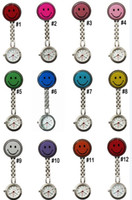 Wholesale 2013 New Doctor Metal Stainless Nurse Medical Smile Face Watch Watches With Clip Pocket Watch