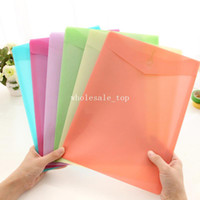 Wholesale Ann korea stationery fresh candy color the eiffel tower velcro one page file folder paper bags