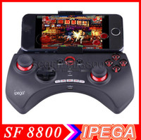 Wholesale Playing games now IPEGA PG Rechargeable Multimedia BT Controller with Telescopic Stand for iPod iPhone iPad Android PC Games