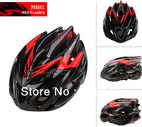 Wholesale Hot selling Semigloss Red black Cycling Bike Bicycle Helmet Adult Safety Holes Channeled Vents carbon Helmet with Net Visor in stock