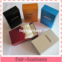 Wholesale New Arrival Colorful Pocket Cigarette Aluminum Case Tobacco Case Box Holder Cigar Smoke