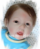 Unisex Birth-12 months Vinyl Reborn Baby Dolls Collectible Lifelike Reallistic Infant Simulation Breathing Boys Free Shipping Girl's lovely toys for child
