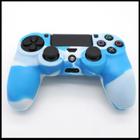 Wholesale DHL Free Soft Camouflage Silicone Rubber Case Skin Grip Cover for Sony Play Station PS4 Gamepad Controller