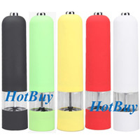 Wholesale ABS Plastic Electric Kitchen Tool Cooking Spice Sauce Salt Pepper Mill Grinder Muller