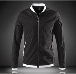 Wholesale Designer Jackets Men concise fashion Slim casual jackets slim contracted Cuffs zipper on front