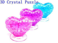 Wholesale T005 Novelty Creative puzzle educational toys Crystal Jigsaw D crystal puzzle