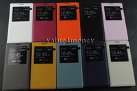 For Samsung PU Leather  White Galaxy Note 3 1:1 Official S View Flip Cover,Automatic Wake up Sleep Leather Case For Samsung Galaxy Note3 N9000 With Retail Box, MOQ: 25PCS