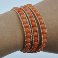Wholesale 5 off Three times beaded natural stone bracelet faceted crystal glass beads mix and match Charm bracelet Optional FZ