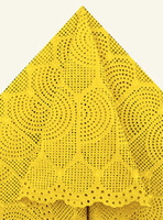 Wholesale African High Quality Big Swiss Voile Lace African Lace Fabric cotton Plain Color Yellow