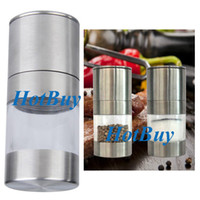 Wholesale New Simple Manual Stainless Steel Kitchen Tool Spice Sauce Salt Pepper Mill Grinder