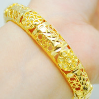Bangle Bohemian Women's Korean pop gold -plated bracelet hollow plum color bridal wedding jewelry over a hundred packages through
