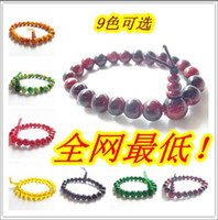 Unisex band strand - Boutique mm agate jade crystal bracelet gem glass beaded strands bracelets wristband bands solid cuff hand catenary bangle Charm jewelry