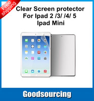 Wholesale In Stock Clear LCD Screen Protector Cover Guard Film For iPad Air iPad iPad Mini iPad Mini No retail Package
