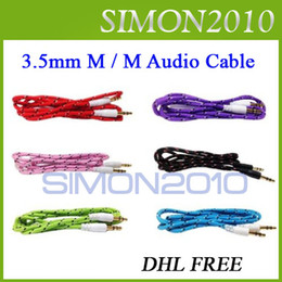 Wholesale Braided mm Male M M Stereo Audio AUX Cable special link for Saynomore