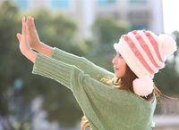 Cheap Newly 100% high quality fashion style colorful free shipping warm winter lady snapback hats