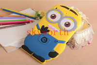 Wholesale 3D Cute Silcon Gel Despicable Me Case Minions Silicone Soft Case Back Cover for ipad