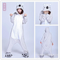 Wholesale Kigurumi Christmas Costumes Pajamas All in One Pyjama Animal suits Cosplay Adult Garment Flannel Grey Koala Cartoon Onesies