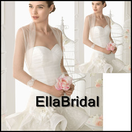 Wholesale Made to Order Elegant Long Sleeve Lace Appliques New Arrival Tulle Wedding Bolero Jackets Bridal Wraps