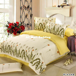 Wholesale Hot sale cotton bedding set twill queen size bedclothes bed cover sheet the bed line duvet cover cotton