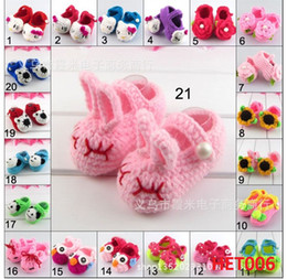 Wholesale Baby infant Winter Soft Sole Toddler Shoes Prewalker First Walker Shoes Socks Handmade Cotton Thread Kitted Cartoon Style CM Pairs