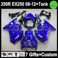 7gifts+ Tank For Kawasaki Ninja 250R EX250 08- 12 EX 250 facto...
