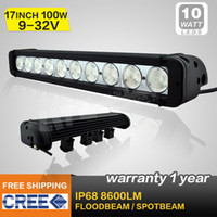 Wholesale FREE FEDEX SHIPPING INCH W CREE LED LIGHT BAR12V LED DRIVING LIGHT SPOT IP68 FOR OFFROAD MARINE BOAT TRACTOR ATV x4 SUV