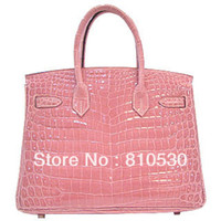 Wholesale Birkin30 Pink Crocodile Skin bags women handbags women famous brands for