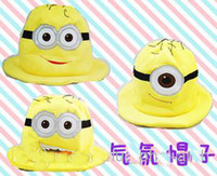 Wholesale EMS Despicable Me Despicable Me yellow minions plush toy doll hat