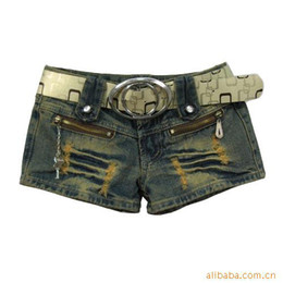 Wholesale Korean version of the influx of new spring women s jeans shorts hot s worn thin Slim