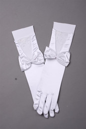 Wholesale 2014 Best Selling Full Finger Below Elbow Length Bowknot lace Bridal Gloves Simple Style High Qutily Graceful Comfortable