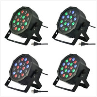 Wholesale 4pcs W Wonderful Par LED RGB Magic Effect light DMX512 Disco DJ Stage Lighting Party Light AC110V V Channels Led Stage Par Light