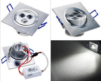 Wholesale 6w Square LED Ceiling Light Indoor Down Lamp Warm Cold White silver shell w Light Driver