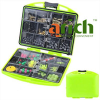 Wholesale Rock Fishing Box Portable Fishing Tackle Case Set with Soft Lead amp Hook amp Float Stopper Color Assorted