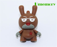 Guangdong China brown No Wholesale real 16G 32G cartoon pentagram doll USB Flash Drives pen Drives memory sticks disk Free shipping 10pcs lot by DHL EMS#US0553