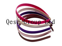 Headbands Ribbon satin FREE SHIPPING! 13mm satin hair headband,ideal for fascinators.40pcs lot. 8 colors can pick.black,white,ivory,fuchsia,beige,purple,pink ect.