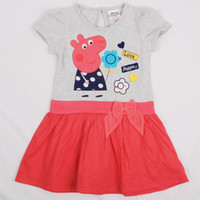 New arrvial 18m- 6y baby girls dress cartoon peppa pig clothe...