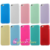 Wholesale High Quality Candy Solid Soft Glossy Jelly TPU Gel Case Cover For iphone S S C