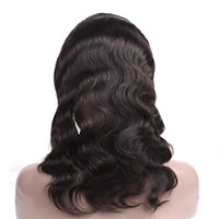 Wholesale Body Wave quot Indian Virgin Hair B dyeable Full Lace Wig DHL Full Lace Wigs hot sales human hair wig DROP SHIPPING