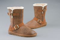Wholesale 2013 New Arrivals Women Snow Boots Thick Lady Snow Boots Wool Leather warm snow boots
