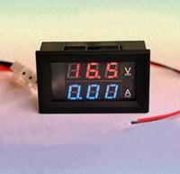 Wholesale Current Meters Digital DC V A Red amp Blue Led Dual Panel Volt Amp Combo Meter Shunt
