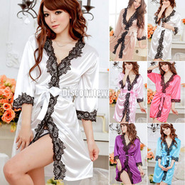 Wholesale Sexy Womens Ladies Silk Lace Lingerie Sleepwear Nightwear Night Dress colthes G string NX82