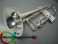 Wholesale Silver Plated B flat TRUMPET High Quality Bb NEW