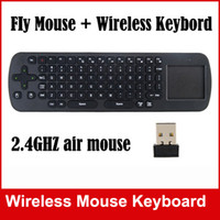 Wholesale New Measy RC12 IN Smart Wireless GHz Air Mouse Touchpad Handheld Keyboard Combo