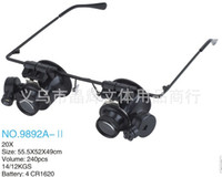 Wholesale New X Double Layer Lens Magnification Glasses Type Watch Repair Magnifier With LED Light