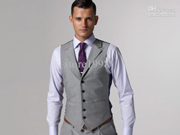 Wholesale Custom Design Size and Color Groom Groomsmen Vests Men Bridegroom Best Man Waistcoat M190