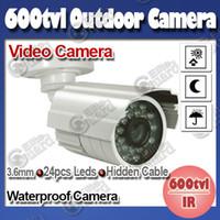 Wholesale 600tvl CCTV Camera IR Bullet Camera mm Lens Night Vision m IR Distance Waterproof Outdoor Camera