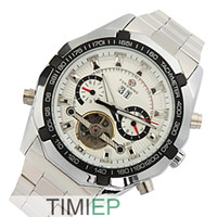 Wholesale New Luxury Automatic Skeleton Sport Stainless Steel Black Men watches Mechanical Wrist Watches for men